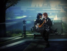 Jane and Samantha: Shore Leave on the Citadel by CrystaliqEffects