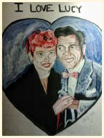 commissioned work: I Love Lucy by fbforbill