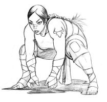 Sumo Woman Pencils by SHADOBOXXER