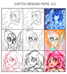 Steven Universe: Switcharound meme by happy-little-ghost