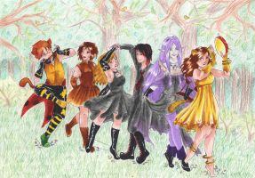 Dancing through the witchwood by Lady-Ignea
