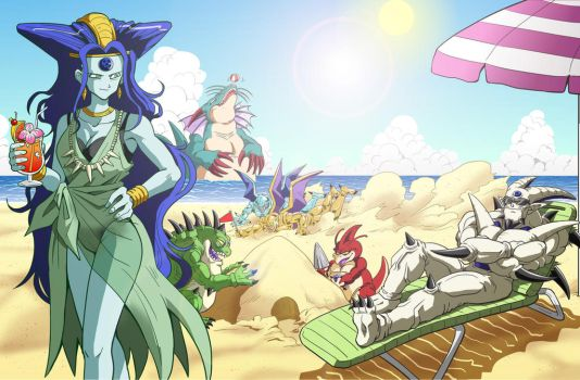 dragon on the beach by vansolt