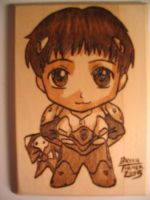 Chibi Shinji Woodburn by Obidesuka