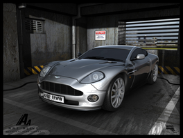 Aston Martin Vanquish. Parquing 007 in MI6. by MarcMons007