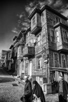 wood as well as, houses, buildings, streets, by ozycan
