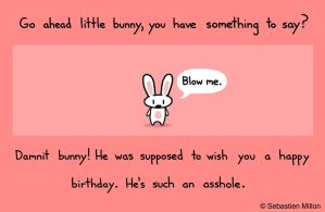 Bunny Doesn't Wish You a Happy Birthday by sebreg