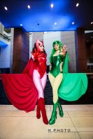 Scarlet Witch and Polaris by itsthekitsunekid