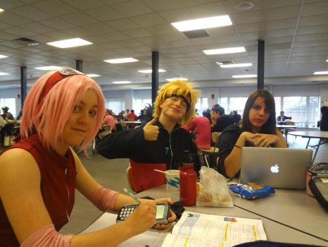 Naruto Cosplay at School by BloodKaika