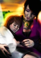 Morrigan and Ellyn by ximena07