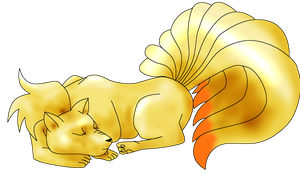 Ninetails by lilbustedsoccerchick