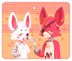 mangle+foxy by hn-nana