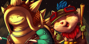 SUPR TEEMO AND RAMMUS POWR by SmidgeFish