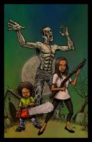Zombie Slaying Kids by RamonVillalobos