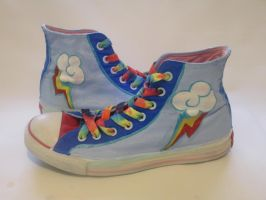 Rainbow Dash High Top Customs. Copy #8 by Acrylicolt