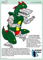 30 characters day 23 - Lord Cyberdile by PlummyPress
