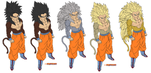 coloring-goku true-ssj4 evolution by Naruttebayo67