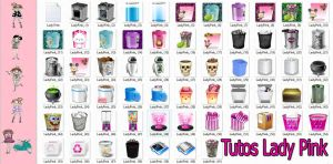 Pack de papeleras para tu PC zip by TutosLadyPink