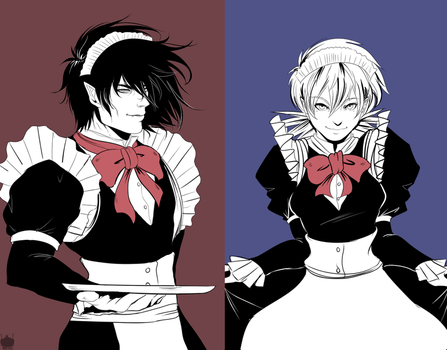 Hellsing: Maids by chickenoverlord