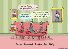 British Aristocrat Zombie Tea Party by sebreg