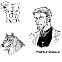 Andrej sketches, inks and tone by belligerent