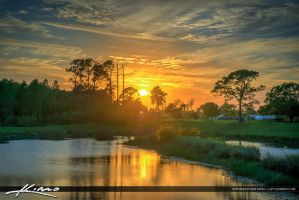 Stuart-Florida-Sunset-at-Park-Over-Lake-in-Martin- by CaptainKimo