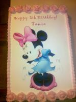 Minnie Mouse Birthday Cake by missblissbakery