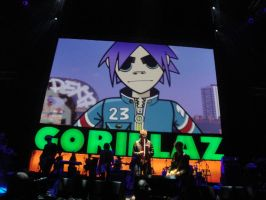 Gorillaz at the O2: 3 by Psycho7772
