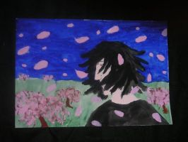 Goth with Cherry Blossoms by bitterfly