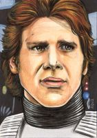 HAN SOLO 2 SKETCH CARD by AHochrein2010