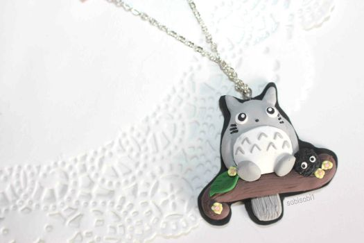 Totoro Necklace by sabisabi1