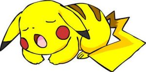 Pikachu Sleeps by beebarb