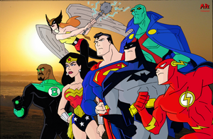 The Justice League by miles-prowerx
