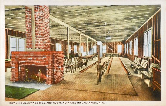 Altapass Inn, NC - Bowling Alley + Billiards Room by Yesterdays-Paper