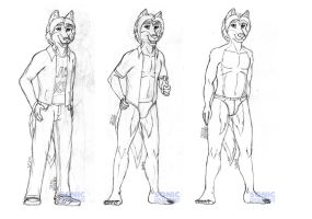 Eddie the Wolf Ref (sketch) by SonicHomeboy