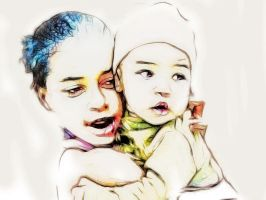 Mother and Child by DigitalHyperGFX