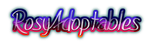 RosyAdoptables logo by blazesonicx