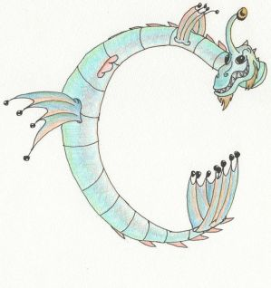 Water Dragon by ValaNolwen