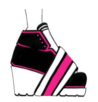 Pink Shoes-adidas inspired by chiccas