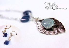 Moms Opal and Kyanite Set by cybelemoon