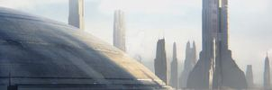 Coruscant New landing shot by AggeIw