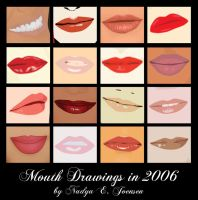 Mouth drawings from 2006 by nadda1984