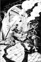 Snake eyes and Storm Shadow by davidnewbold