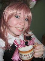 March Hare Marluxia half cup by ToraKatt