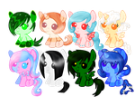 Filly Pony Adopts Batch [1/8 Open] by ShyMoonAdopts
