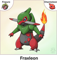 Fraxure + Charmeleon Fusion