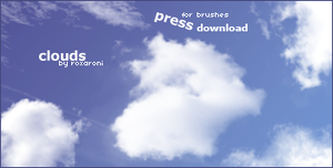 cloud brushes by roxaroni
