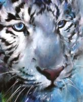 white tiger by D-BT