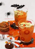 Pumpkin Pudding w/ Halloween Cookies by theresahelmer