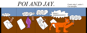 Poi and Jay first comic strip. by thetrans4master
