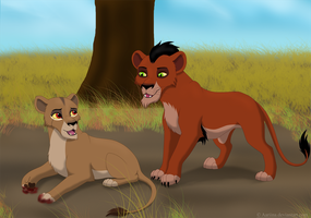 Taka and Zira: the first meeting by Aariina